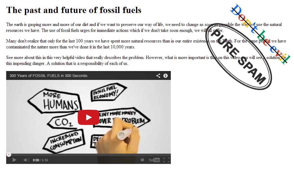 Fossil fuels and Google