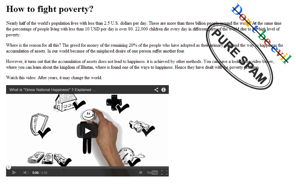 Google and poverty